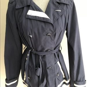 Woman's Tommy Hilfiger Navy and White Rain Slicker